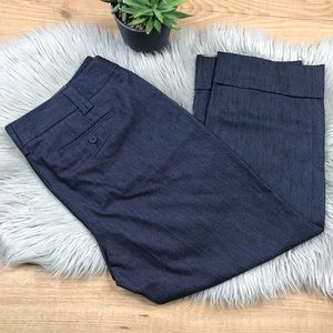 Ann Taylor LOFT Navy Blue Cropped Pants Sz 12